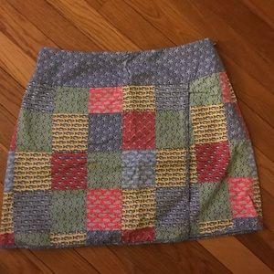 Vineyard vines patchwork wrap skirt